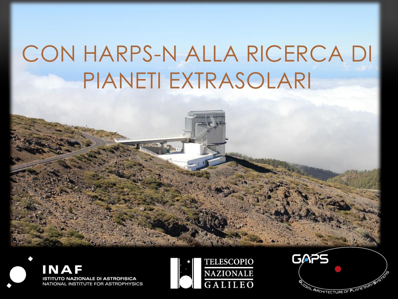 Con HARPS-N alla ricerca di pianeti extrasolari