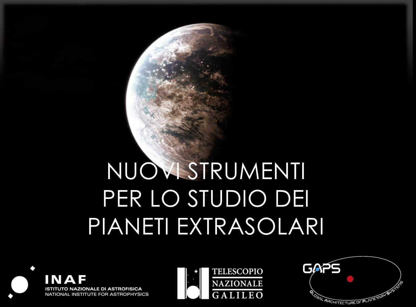 Nuovi strumenti per lo studio dei pianeti extrasolari