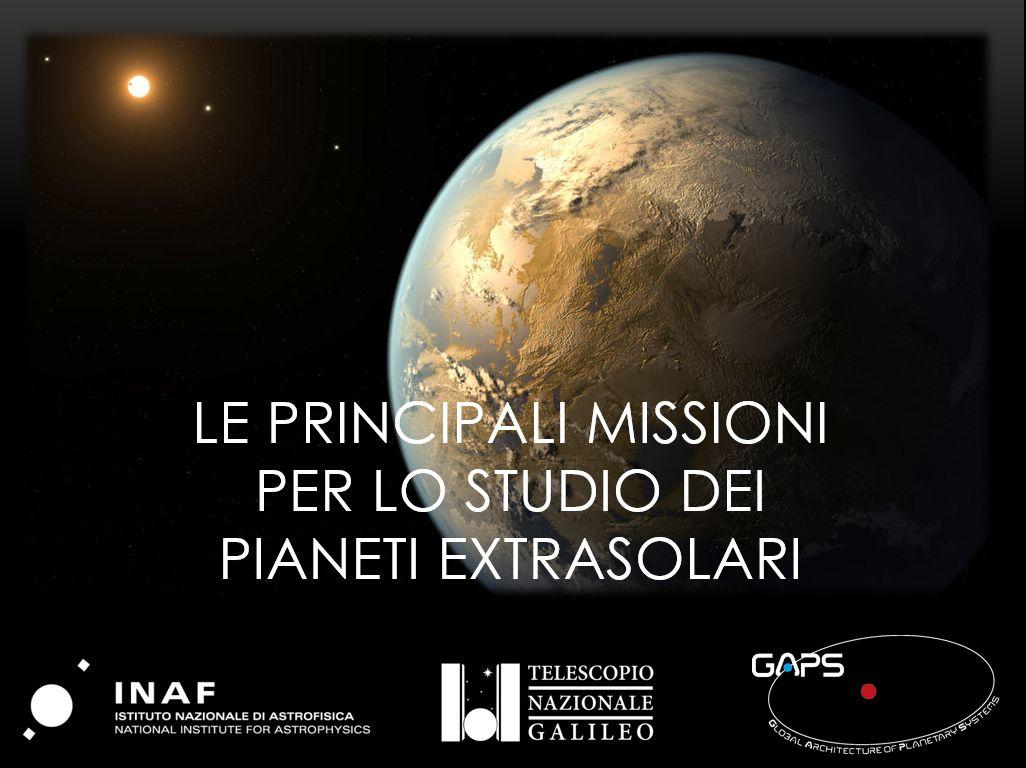 Le principali missioni alla ricerca di pianeti extrasolari