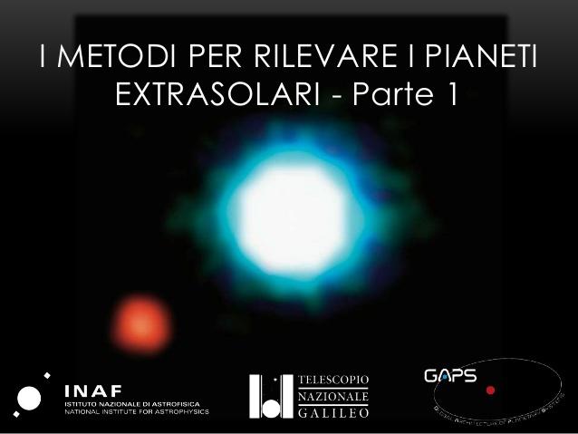 PICCOLI E LONTANI I metodi per rilevare i pianeti extrasolari – parte 1 (metodi diretti)