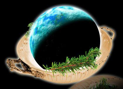 Rappresentazione artistica di un pianeta roccioso simile alla Terra. Crediti: David A. Aguilar / CfA